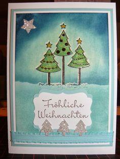 Kreativreport: Die nächste Weihnachtskarte Nr. 2