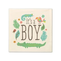 In the Jungle Baby Shower Paper Napkins Paper Napkin