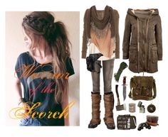 Scorch Trials by skyausten on Polyvore featuring polyvore, fashion, style, Raquel Allegra, H&M, Forever 21, Tory Burch, Belstaff, Clips, Jane Norman and Holster
