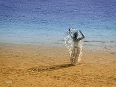 Sun gaze Playa de Las Canteras. Gran Canaria.
