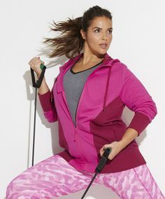 We add 14% Spandex to our ultrastretch pieces for extra movement.  Plus Size activewear fashion from Woman Within.