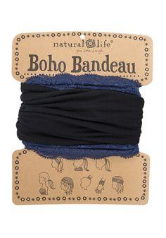 SIMPLY BLACK Boho Bandeau, maar wel met een heel mooi kanten bandje 🖤 Een bijzondere haarband, eigenlijk hebben ze allemaal wel iets speciaals, de kleur, het materiaal, het dessin.... De BOHO BANDEAU HAARBANDEN van Natural Life. #bohobandeau #haarband #black #lovelyscarfs Boho, Natural Life, Card Holder, Accessories, Bohemian, Letter Tray, Boho Aesthetic, Ornament