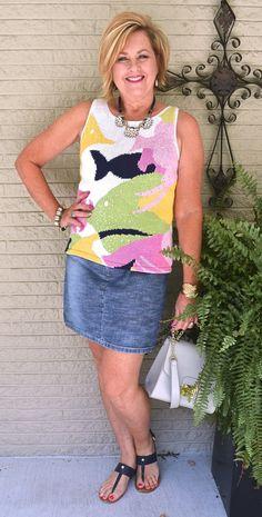 50 IS NOT OLD | BLUE JEAN BABY QUEEN | Denim Skirt | Summer Sweater | Fashion…