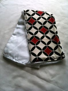 Black White and Red Cloth Diaper Burp Rag