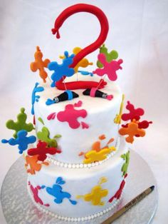 Paint Splash Cake by Cake Appreciation Society Member Chef Sam - See SOUTH AFRICA Directory Listing at www.cakeappreciat...
