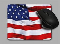 USA Mouse Pad United states flag mousepad MP042 by AGFXSublimation, $10.00