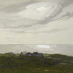 Sir Kyffin Williams R.A. (British, 1918-2006) Rhos Cryman 76.2 x 76.2 cm. (30 x 30 in.)