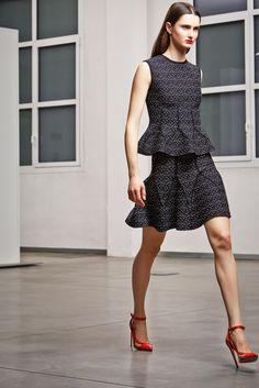 Antonio Berardi Pre-Fall 2014 Fashion Show.  I like the mirroring of the construction lines.
