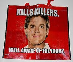 """auction meme   Dexter """"kills Killers"""" Meme Bag Sdcc Comic Con Showtime"""