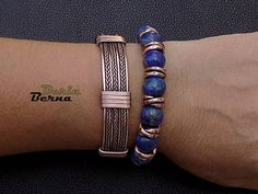 Braided men bangle braceletAdjustable men copper bangle