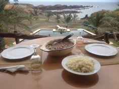 A traditional Capeverdean meal: Congou cou arroz. Bon appetit...