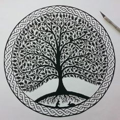 :: Crafty :: Paper :: Folk Art Papercuts by Suzy Taylor: Trees