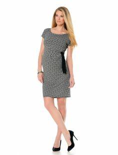 Short Sleeve Side Tie Maternity Dress
