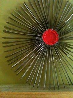 a childhood list 16 re cycled plastic knife wreath crafts pinterest knives childhood. Black Bedroom Furniture Sets. Home Design Ideas