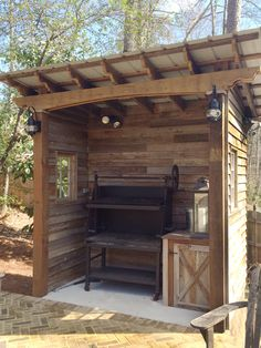 Barbecue shed designed and built by Atlanta Decking.