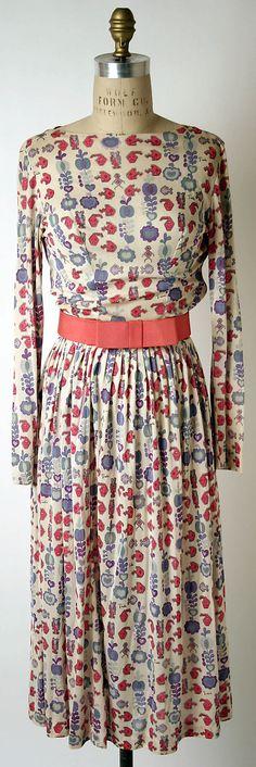 Emilio Pucci 1950s Dress. Silk. The Metropolitan Museum of Art.  - @Brass Giraffe Vintage