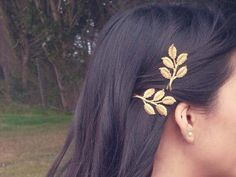 leaf hair pins ~ love the flower child inspiration