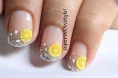 Cute Fimo nail art – 3D nail designs !! fimo cane nail designs – fimo fruit nail art designs