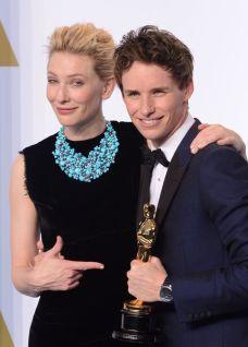 Oscars2015 Eddie Redmayne Cate Blanchett