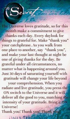 The secret ♡ Gratitude