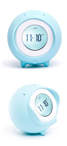 Tocky Rolling Alarm Clock - adorable clock that jumps, runs, and hides if you continue to push snooze. Features a microphone to record your own sounds, and the ability to upload MP3's.