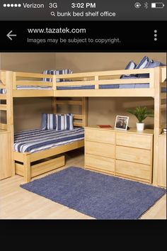 Super chill structure for a dorm room or apartment. Kind of looks like something for a cabin, either way, it's awesome.