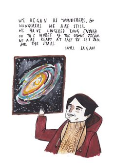 Carl Sagan by Dick Vincent Illustration