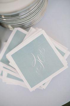 classic monogram napkins | Harwell Photography #wedding