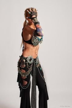 Tribal Fusion Spiked Belly Dance Belt