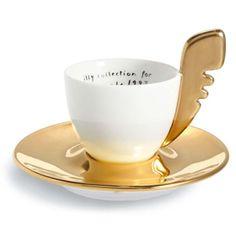 very rare, impossible to find.  Luca Trazzi limited edition VeneXia Gold (1997) Espresso Cup