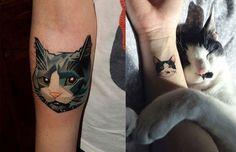 tatuajes de animales gato