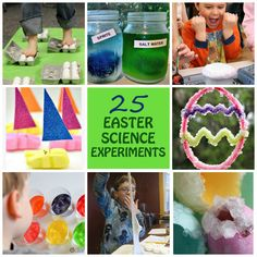 25 Easy and fun Easter science experiments for kids: toddlers, preschoolers and older kids.