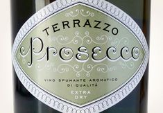 Can typography be effervescent? Certo! And this Terrazzo Prosecco, from the Veneto region of Italy, imported by Monarchia Matt, tastes as good as it looks—senza dubbio. by Louise  Fili