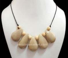 Necklace Summer 2012 collection Tagua nut beads from the Amazon Rainforest region Peru Brazil Eco Jewelry, earth friendly, made with tagua beads the vegetable ivory from Peru & Colombia US $ 19.90 free shipping from peruincamarket