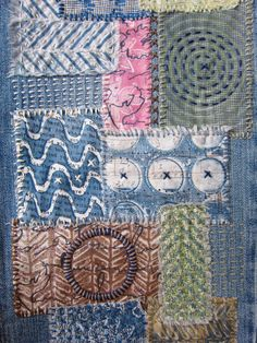 Printing with Gelli Arts®: DIY Gelli® Printed Fabric Patches ~ love this idea & must do on my favorite sweatshirt with a bleach blob.