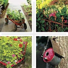 Turn Salvaged Junk Into Garden Ornaments