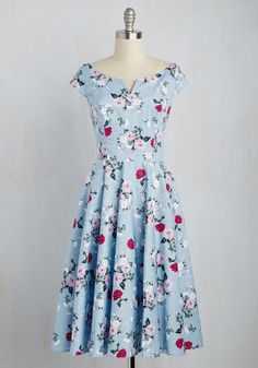 1950s style spring dress. Sculpture Garden Gala Dress $89.99 AT vintagedancer.com