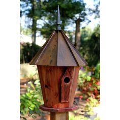 Heartwood Innspire Bird House - Redwood Brown Patine Roof - 229B