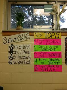 SWAG-Classroom management for sixth grade math [August, Trimester Teaching Tools, Teaching Math, Teaching Resources, Teaching Activities, Teaching Ideas, Classroom Organisation, Classroom Management, Class Management, Organization