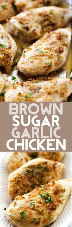 This Brown Sugar Garlic Chicken has the most delicious flavor! It is a light sauce that truly makes each bite spectacular! This was a hit with the entire family!