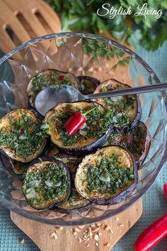 marinierte Auberginen aus der Levante Küche Camembert Cheese, Lunch, Vegan, Vegetables, Health, Ethnic Recipes, Video, Middle East, Healthy Food