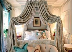The Enchanted Home: Bedrooms that blow me away Bedroom Bed, Guest Bedrooms, Bedroom Decor, Bedroom Ideas, Master Bedrooms, Bedroom Designs, Bed Rooms, Bedroom Styles, House Rooms