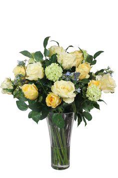 Mixed Yellow Arrangement Silk Floral Arrangements, Glass Vase, Yellow, Home Decor, Silk Flower Arrangements, Decoration Home, Room Decor, Interior Decorating, Gold
