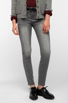 BDG Cigarette High-Rise Jean - Silver  #UrbanOutfitters