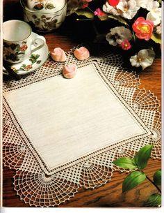 """Photo from album """"магия вязания on Crochet Quilt, Crochet Doily Patterns, Crochet Home, Filet Crochet, Baby Knitting Patterns, Crochet Motif, Crochet Doilies, Crochet Table Runner, Crochet Tablecloth"""