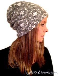 Crochet Pattern - African Flower Hat Pattern $3.89