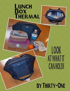 Look how much a Thirty One Lunch Break Thermal can hold!  You can shop online at www.mythirtyone.com/111357 and have your items shipped straight to you!