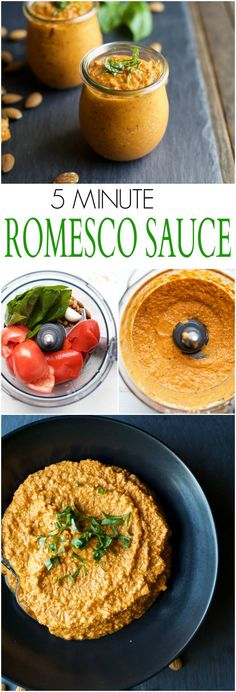 Quick & Easy 5 Minute Romesco Sauce, this spanish sauce is pure magic. You can use it as a marinade, condiment, dip or just eat it