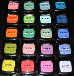 NYX eyeshadow singles  I want this make-up so bad