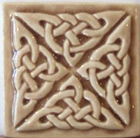 2 X 2 Relief Carved Celtic Knot Tile $7.50 Shown In Mocha